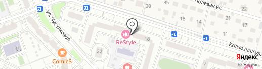 Трёхгорка на карте Одинцово