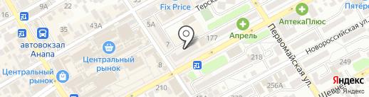 Парикмастер на карте Анапы