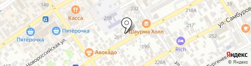 Эжени на карте Анапы