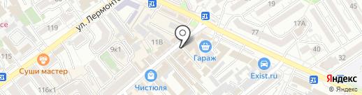 Барышня на карте Анапы