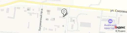 МК на карте Анапы