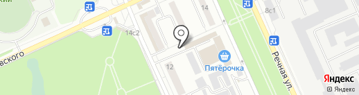 Магазин мясной и молочной продукции на карте Красногорска