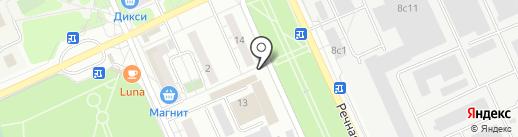 ПЗ Октябрьский на карте Красногорска