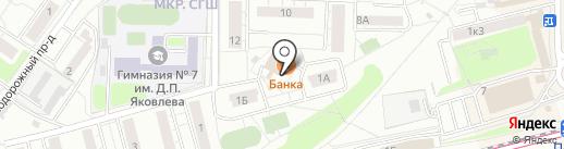 Банка на карте Красногорска