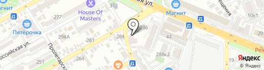 Магазин канцтоваров и электротоваров на карте Анапы