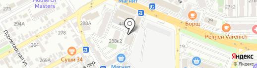 Тургеневский квартал на карте Анапы