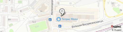 Тетрис на карте Красногорска