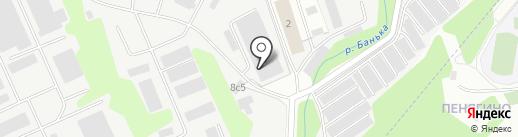 Кимик на карте Красногорска