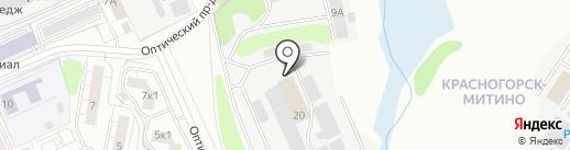 Корсар на карте Красногорска