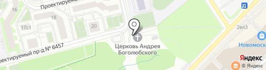 Храм святого великомученика Георгия в Московском на карте Московского