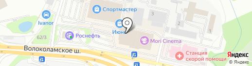 Самтвори на карте Красногорска