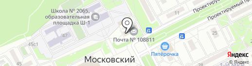 Boxberry на карте Московского