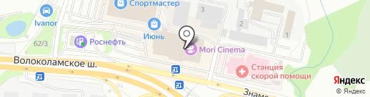 Технопарк на карте Красногорска