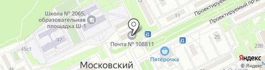 Банкомат, Почта Банк, ПАО на карте Московского