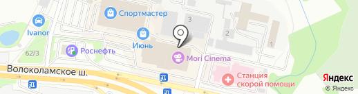 Askona на карте Красногорска