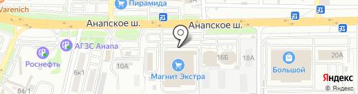 Евросеть на карте Анапы