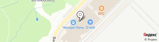Эвалар на карте Московского
