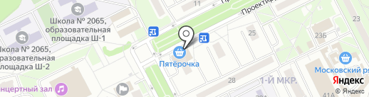 Киоск фруктов и овощей на карте Московского