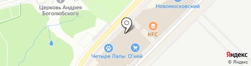 Магазин сумок и головных уборов на карте Московского