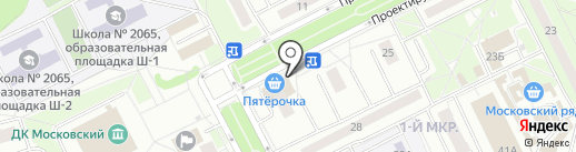 Час Пиццы на карте Московского