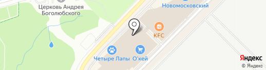 ЭА на карте Московского