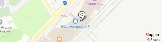 Паровозик на карте Московского