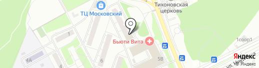Цветыш на карте Московского