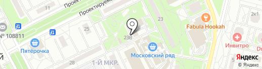 Московский на карте Московского