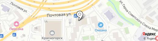 Молодежный-4 на карте Красногорска