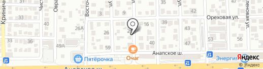 Очаг на карте Анапы