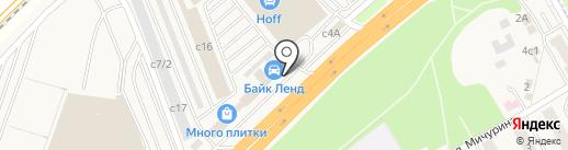 Байк Ленд на карте Новоивановского