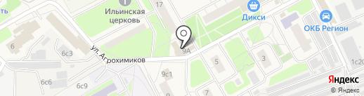 Магазин продуктов на карте Новоивановского