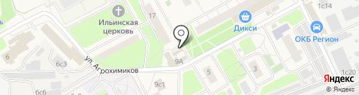 Киоск по продаже фруктов и овощей на карте Новоивановского
