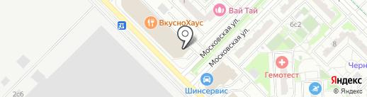 Автомойка на карте Московского