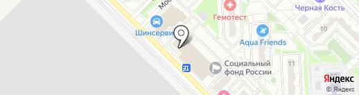 Градъ на карте Московского