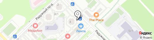 Дарю мебель на карте Московского