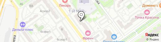 Обжорка на карте Красногорска