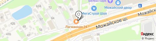 Лагманная на карте Новоивановского
