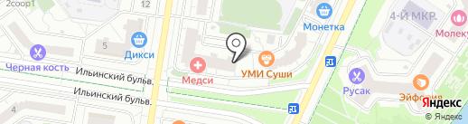 Клякса на карте Красногорска