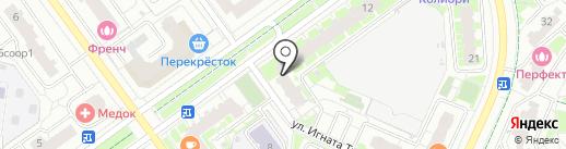 Стальной портье на карте Красногорска