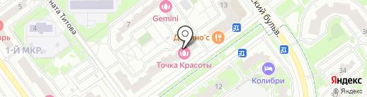 Продуктовая корзина на карте Красногорска