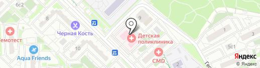 Детская поликлиника на карте Московского
