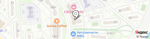Ля Фантази на карте Московского