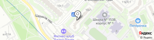 Наудент на карте Москвы