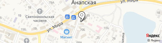 Ассоль на карте Анапы