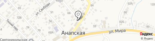 Магазин игрушек и канцтоваров на карте Анапы