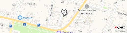 Любомир на карте Анапы