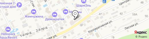 Дельмонт на карте Анапы