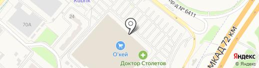 ЛАДЬЯ на карте Москвы