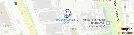 Химводосток, МУП на карте Химок